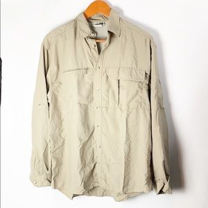 REI Button Down Vented Tan Size Small